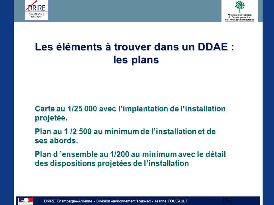 Les éléments à trouver dans un DDAE : les plans