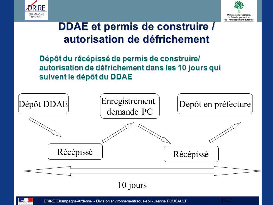 DDAE et permis de construire / autorisation de défrichement