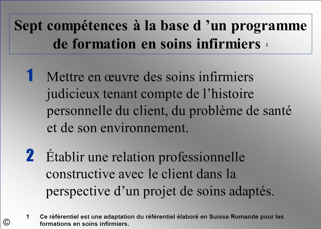 Sept compétences à la base d 'un programme de formation en soins infirmiers 1