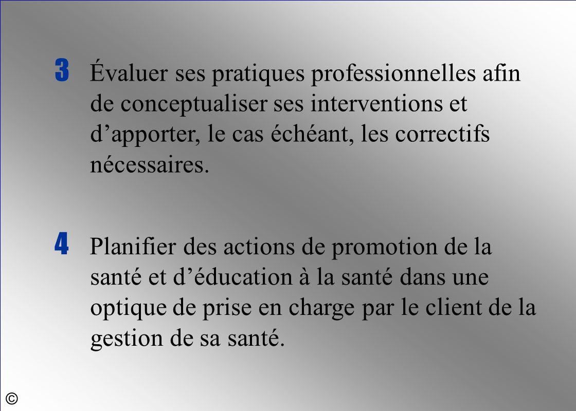 3 Évaluer ses pratiques professionnelles afin de conceptualiser ses interventions et d'apporter, le cas échéant, les correctifs nécessaires.