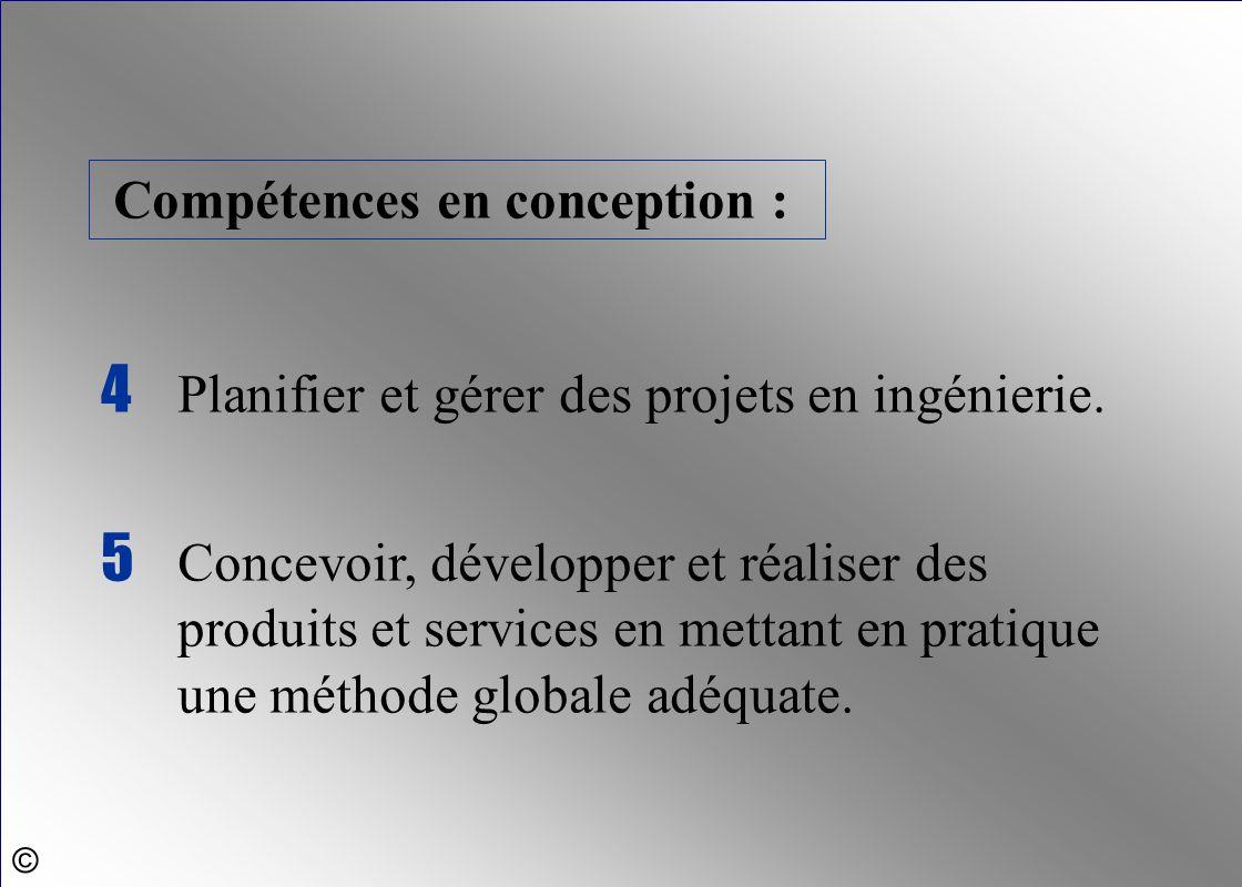 4 Planifier et gérer des projets en ingénierie.