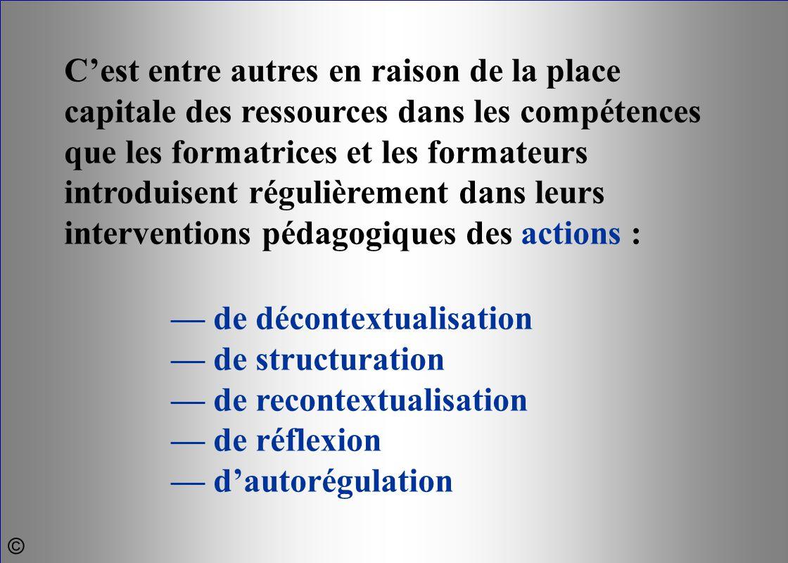 — de décontextualisation — de structuration — de recontextualisation