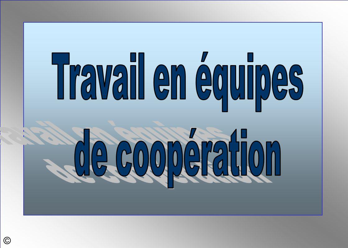 Travail en équipes de coopération ©
