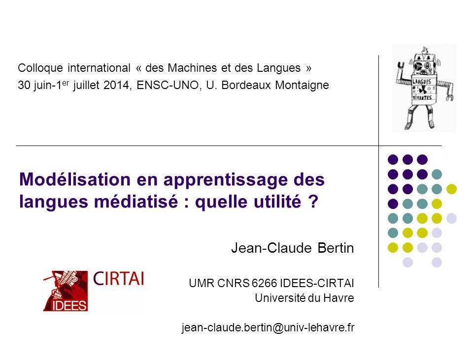 Modélisation en apprentissage des langues médiatisé : quelle utilité