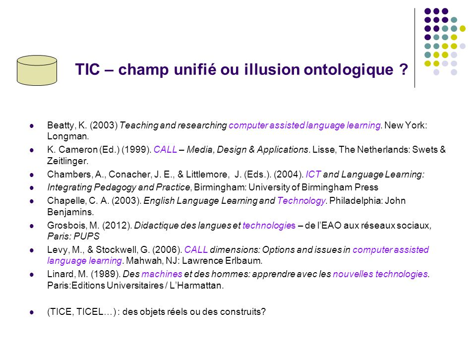 TIC – champ unifié ou illusion ontologique