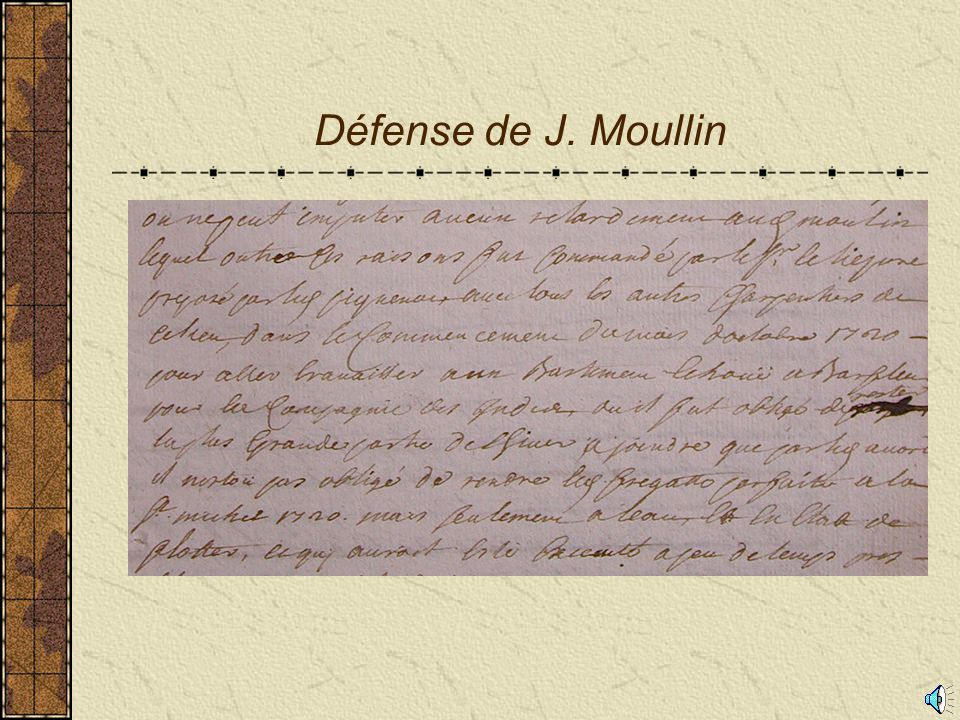 Défense de J. Moullin