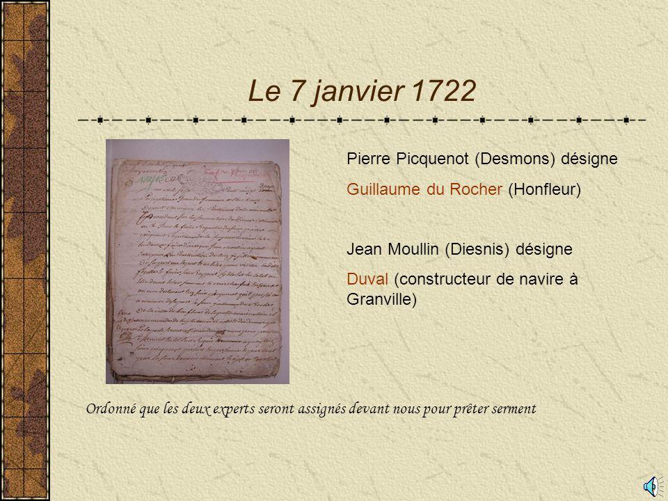 Le 7 janvier 1722 Pierre Picquenot (Desmons) désigne