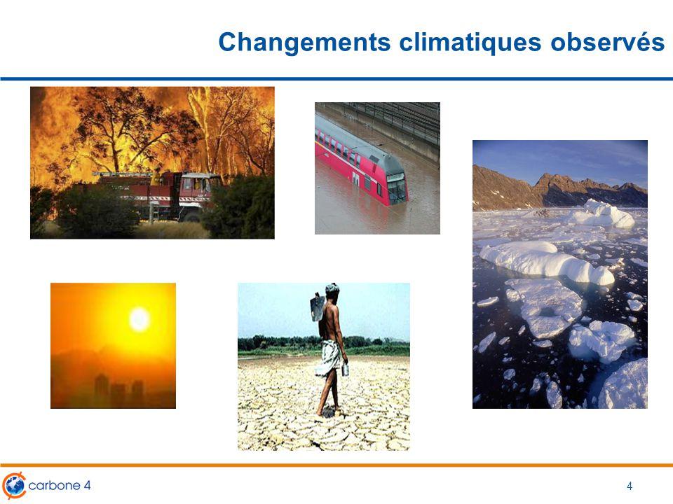 Changements climatiques observés