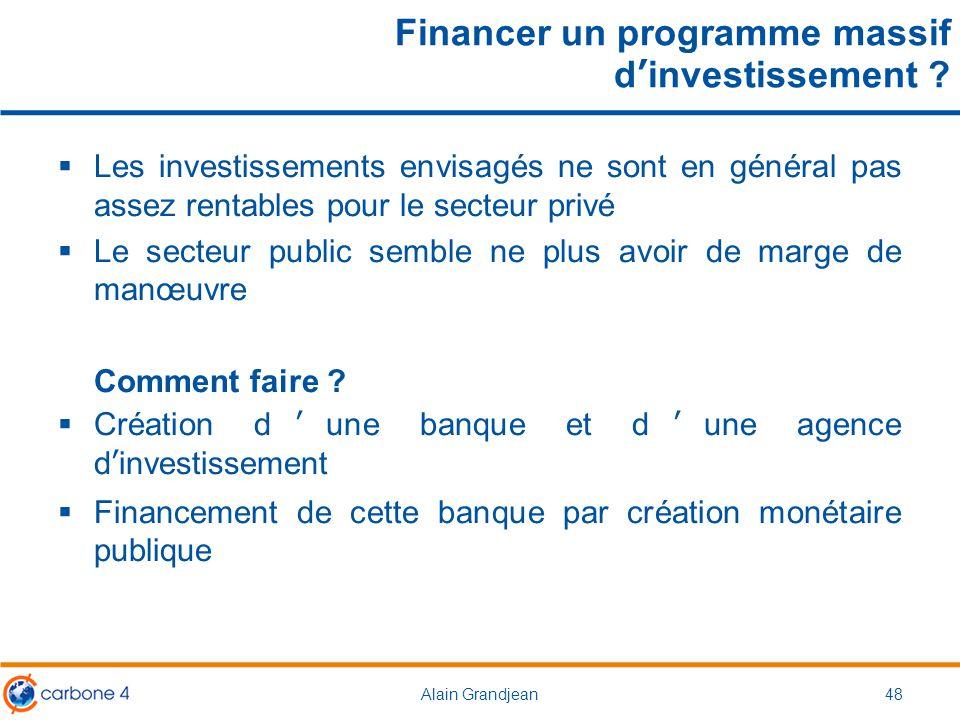Financer un programme massif d'investissement