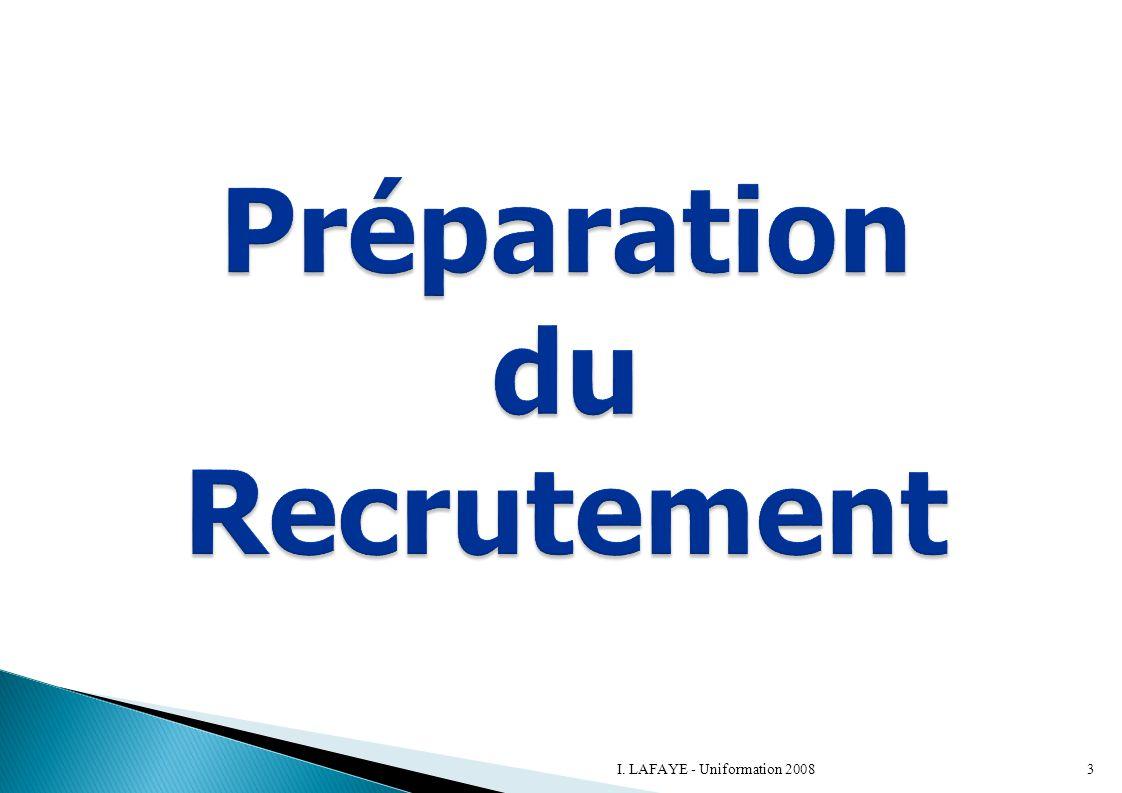 Préparation du Recrutement