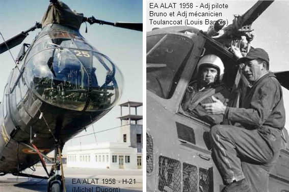 EA ALAT 1958 - Adj pilote Bruno et Adj mécanicien Toulancoat (Louis Barrois)