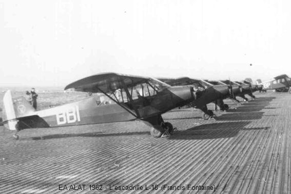 EA ALAT 1962 - L'escadrille L-18 (Francis Fontaine)