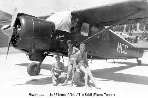 Broussard de la 674ème CRALAT à Sétif (Pierre Tabart)