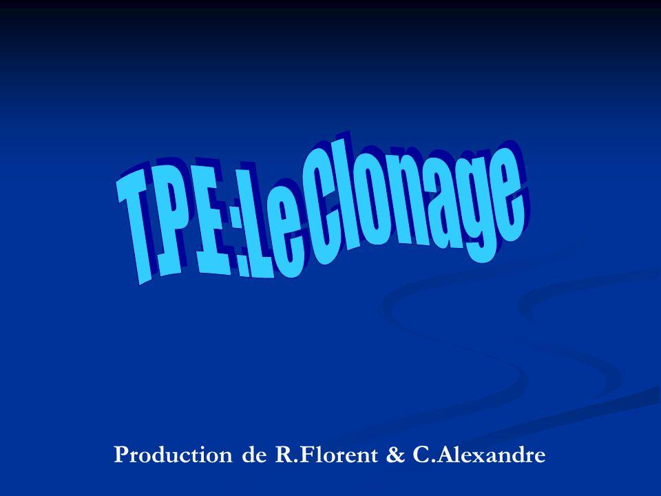 T .P .E : L e C l o n a g e Production de R.Florent & C.Alexandre