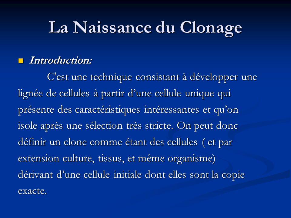 La Naissance du Clonage