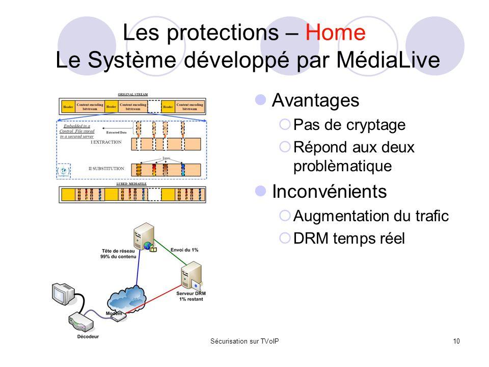 Les protections – Home Le Système développé par MédiaLive