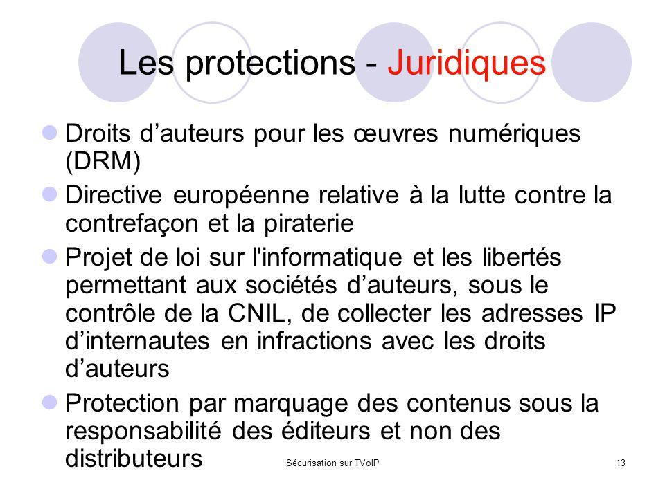 Les protections - Juridiques