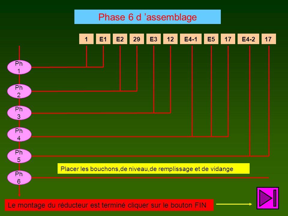 Phase 6 d 'assemblage 1. E1. E2. 29. E3. 12. E4-1. E5. 17. E4-2. 17. Ph1. Ph2. Ph3. Ph4.