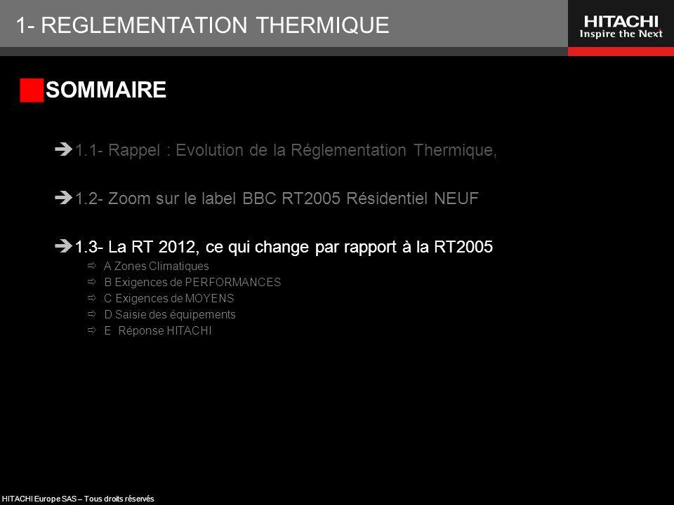 1- REGLEMENTATION THERMIQUE