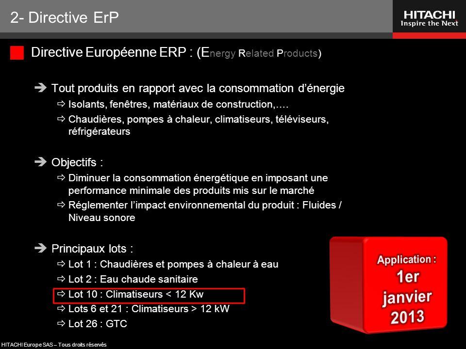 1er janvier 2013 2- Directive ErP