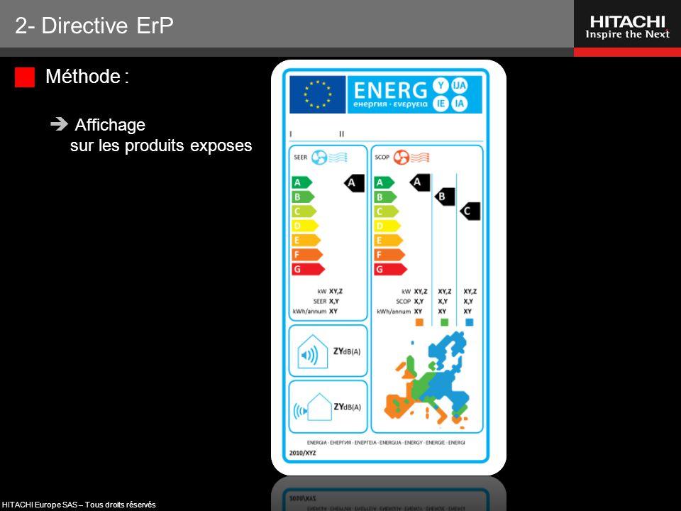 2- Directive ErP Méthode : Affichage sur les produits exposes 92