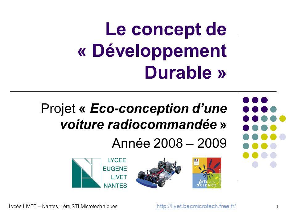 Le concept de « Développement Durable »