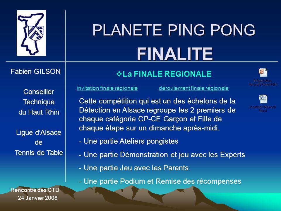 FINALITE PLANETE PING PONG La FINALE REGIONALE