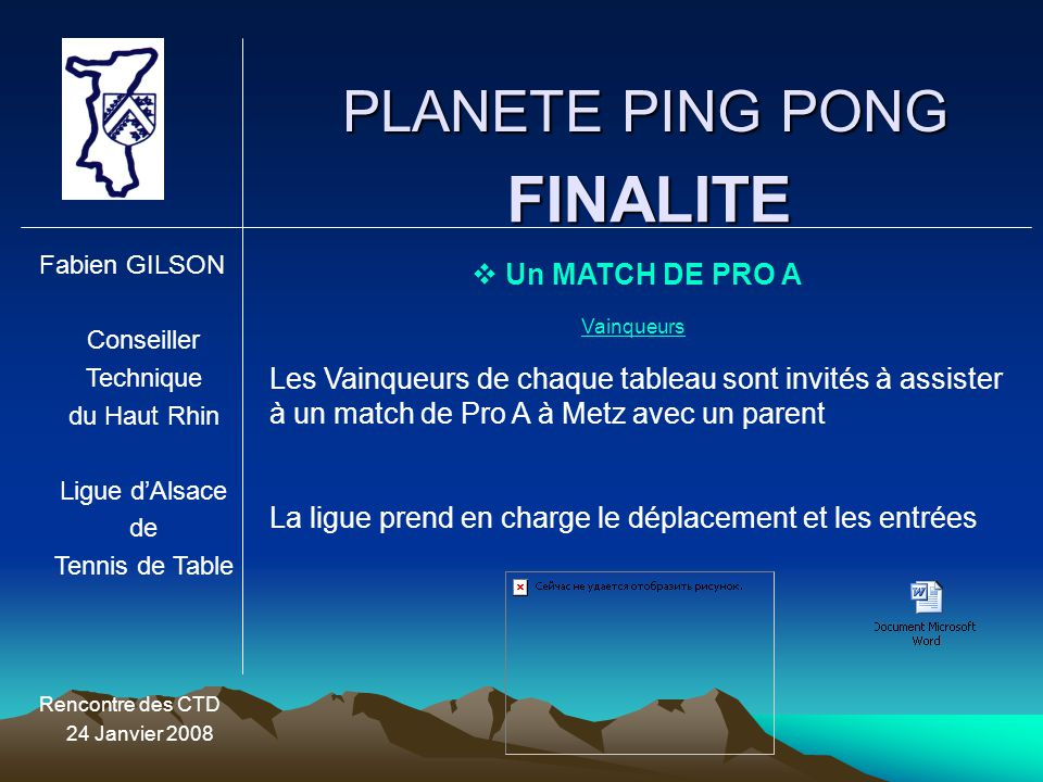 FINALITE PLANETE PING PONG Un MATCH DE PRO A