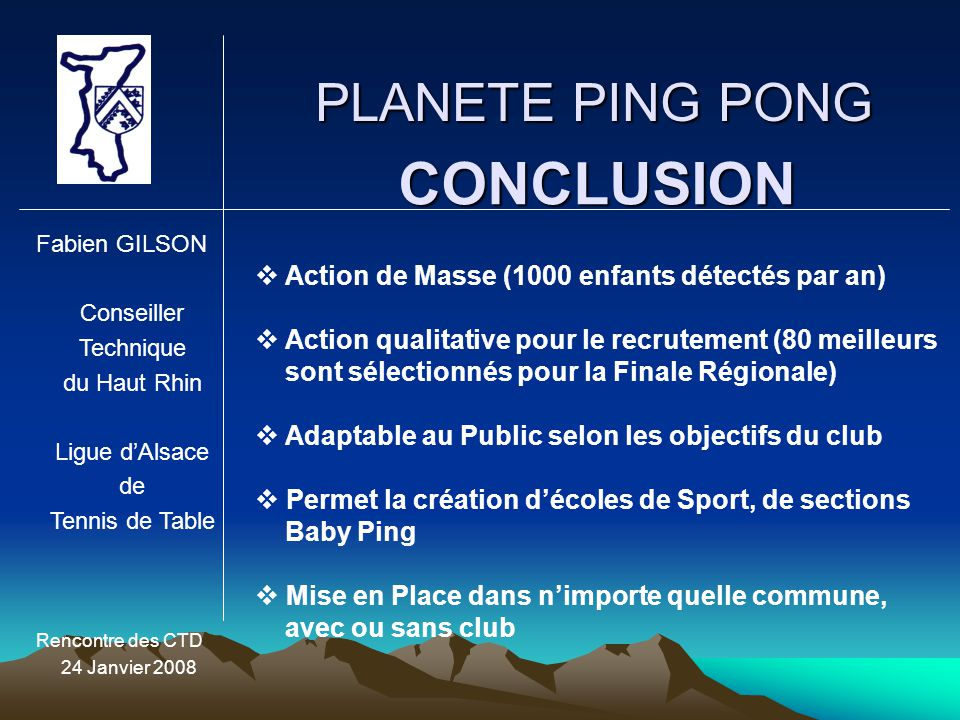 CONCLUSION PLANETE PING PONG
