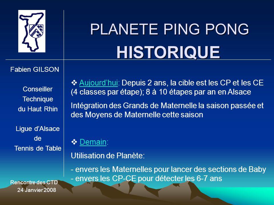 HISTORIQUE PLANETE PING PONG