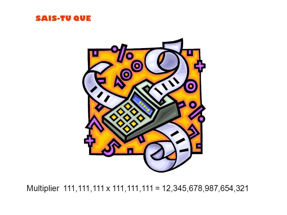 Multiplier 111,111,111 x 111,111,111 = 12,345,678,987,654,321