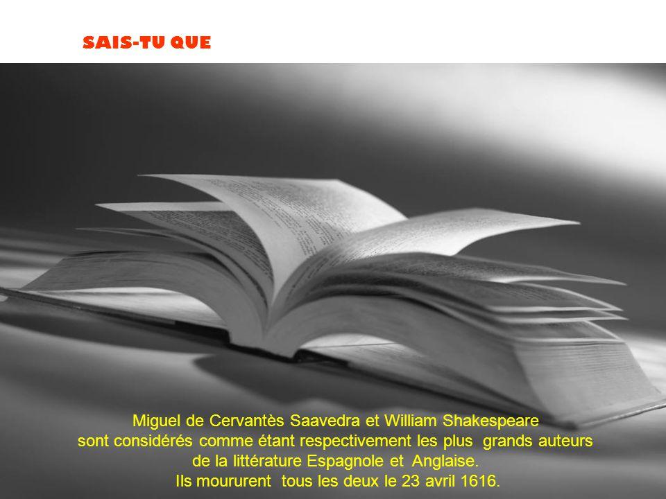 Miguel de Cervantès Saavedra et William Shakespeare