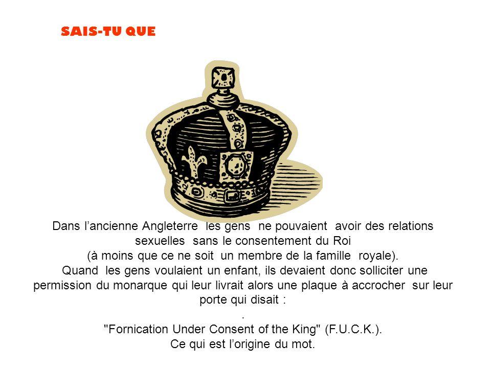 (à moins que ce ne soit un membre de la famille royale).
