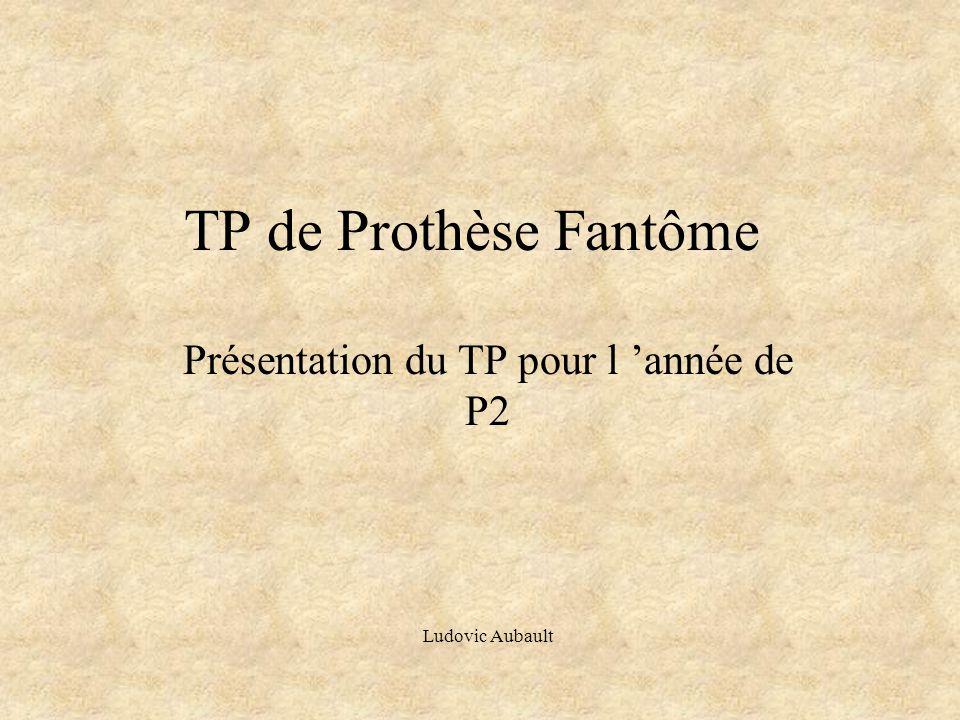 Présentation du TP pour l 'année de P2 Ludovic Aubault