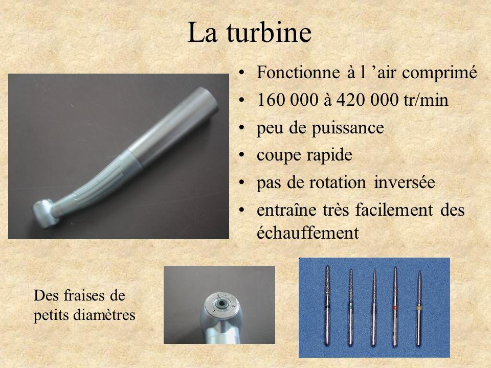 La turbine Fonctionne à l 'air comprimé 160 000 à 420 000 tr/min