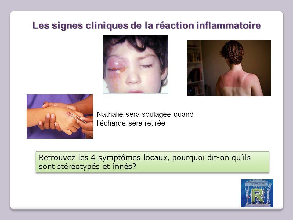 Les signes cliniques de la réaction inflammatoire