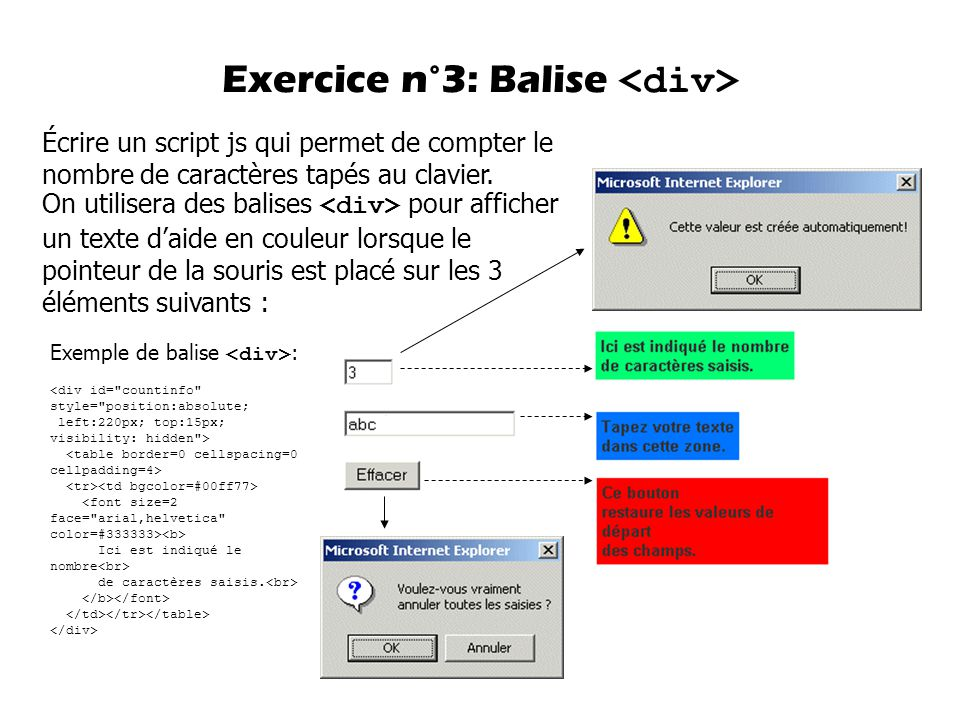 Exercice n°3: Balise <div>