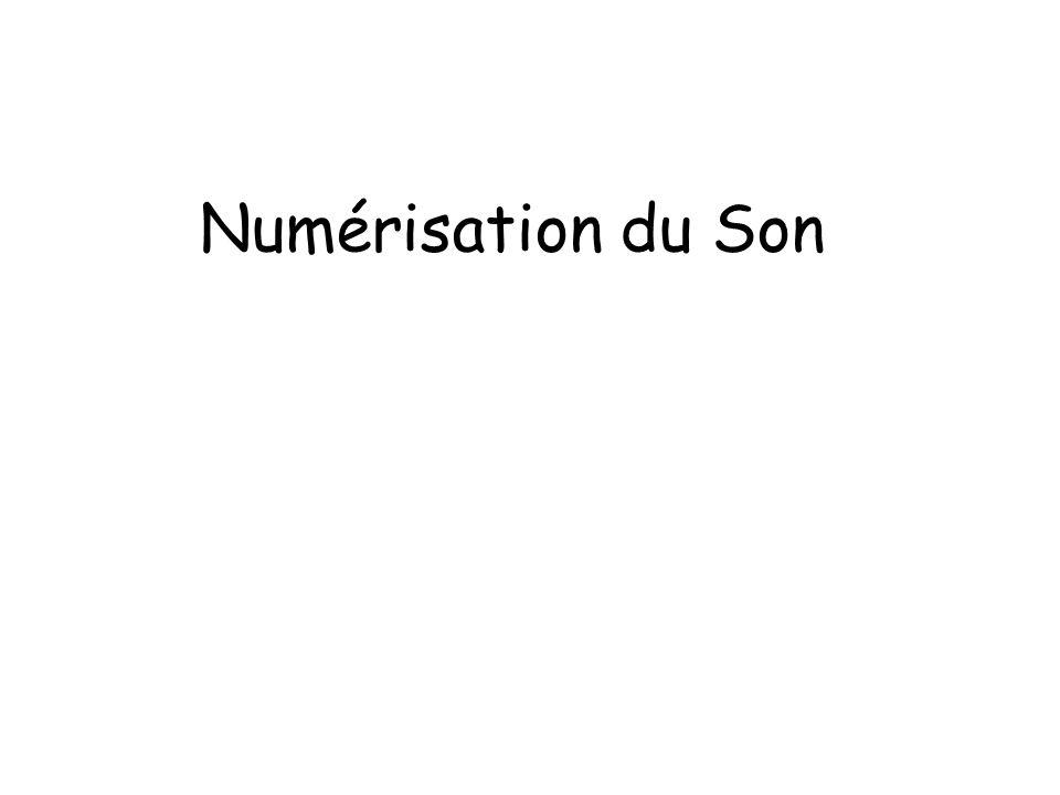 Numérisation du Son