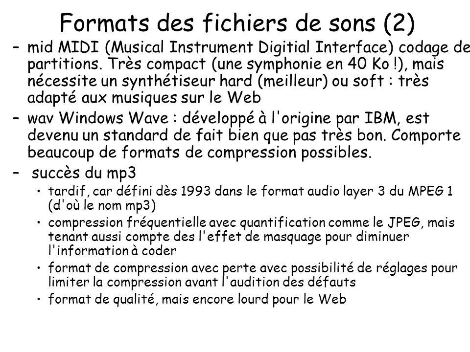 Formats des fichiers de sons (2)