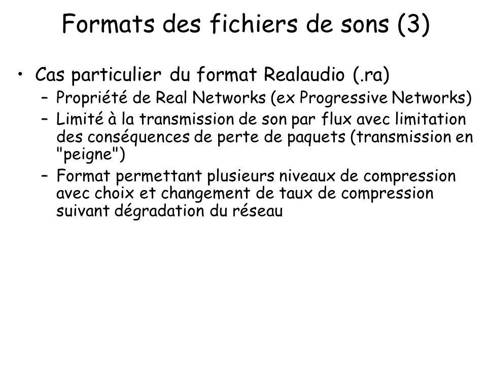 Formats des fichiers de sons (3)