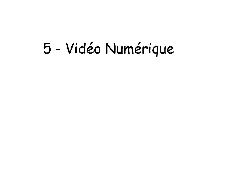 5 - Vidéo Numérique