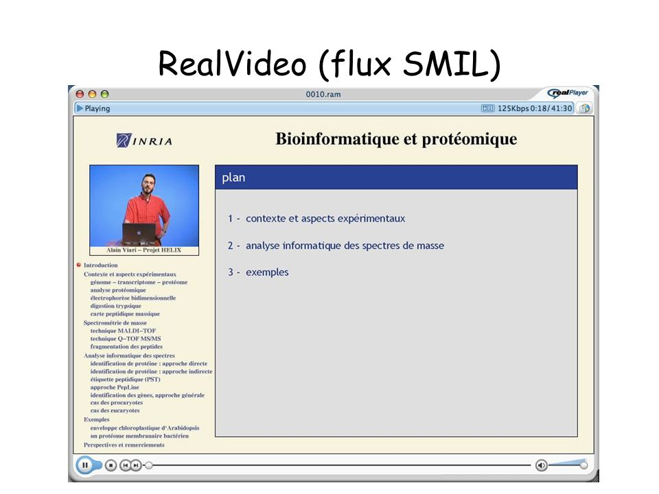 RealVideo (flux SMIL)