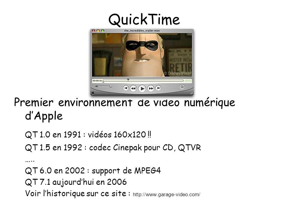 QuickTime QT 1.0 en 1991 : vidéos 160x120 !!