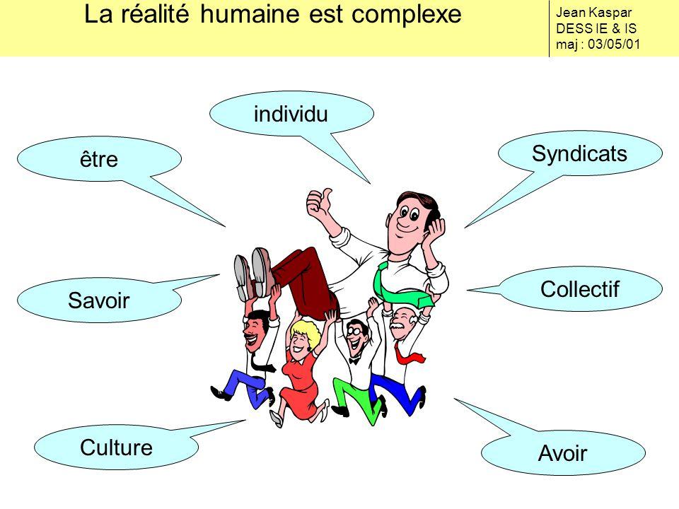 La réalité humaine est complexe