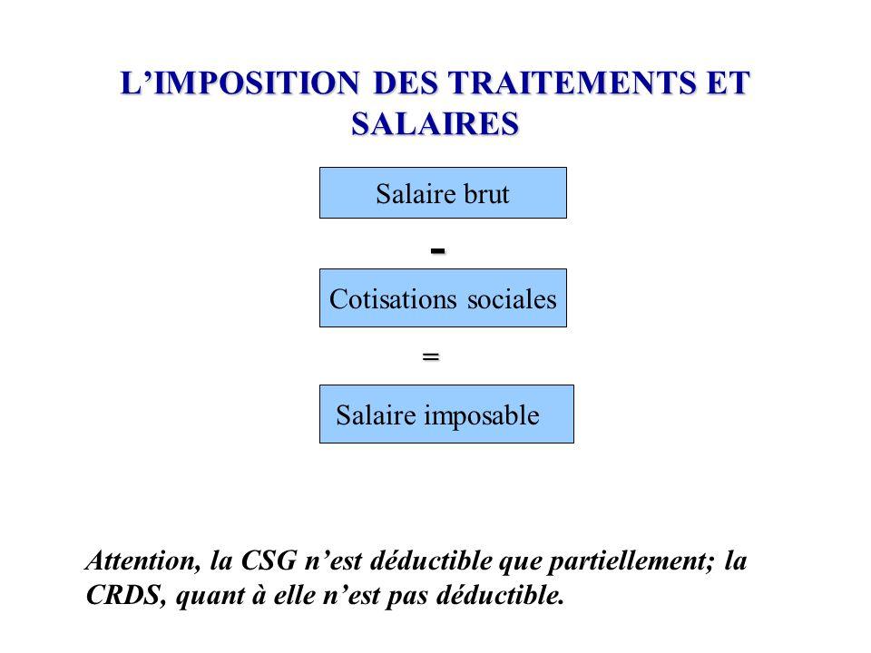 L'IMPOSITION DES TRAITEMENTS ET SALAIRES
