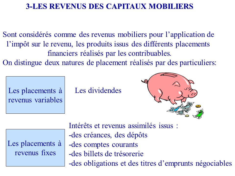 3-LES REVENUS DES CAPITAUX MOBILIERS