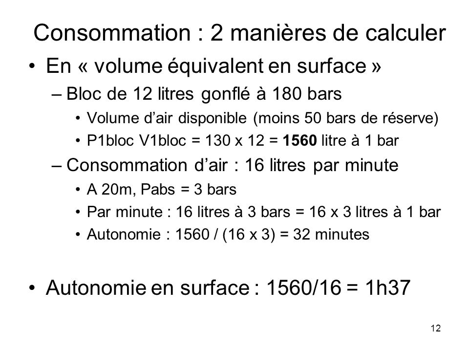 Consommation : 2 manières de calculer