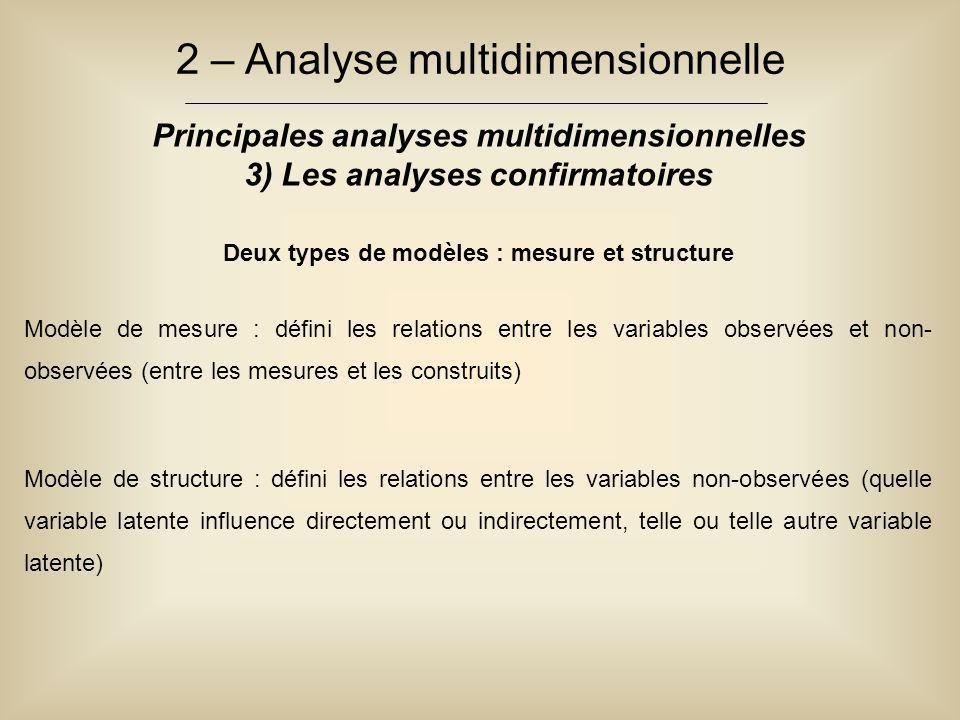Deux types de modèles : mesure et structure