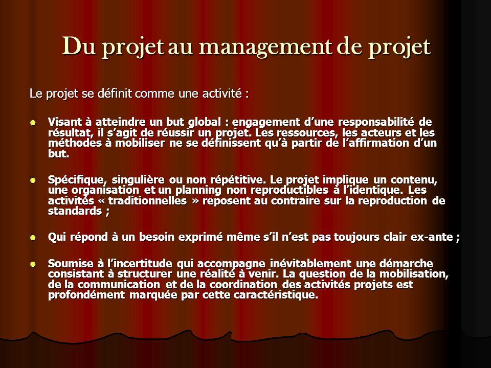 Du projet au management de projet