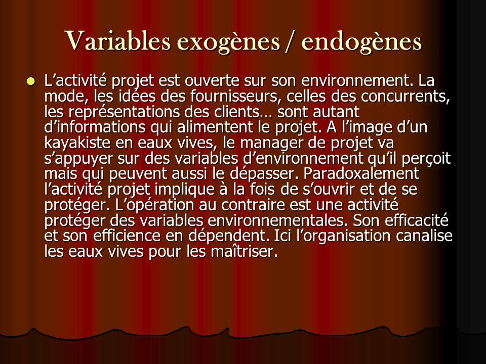 Variables exogènes / endogènes